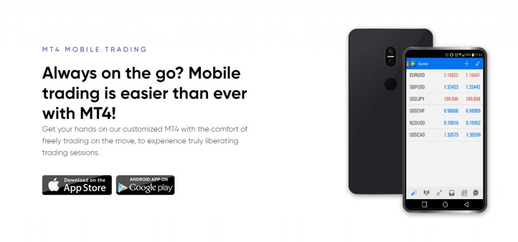 eXcentral MT4 mobile platform