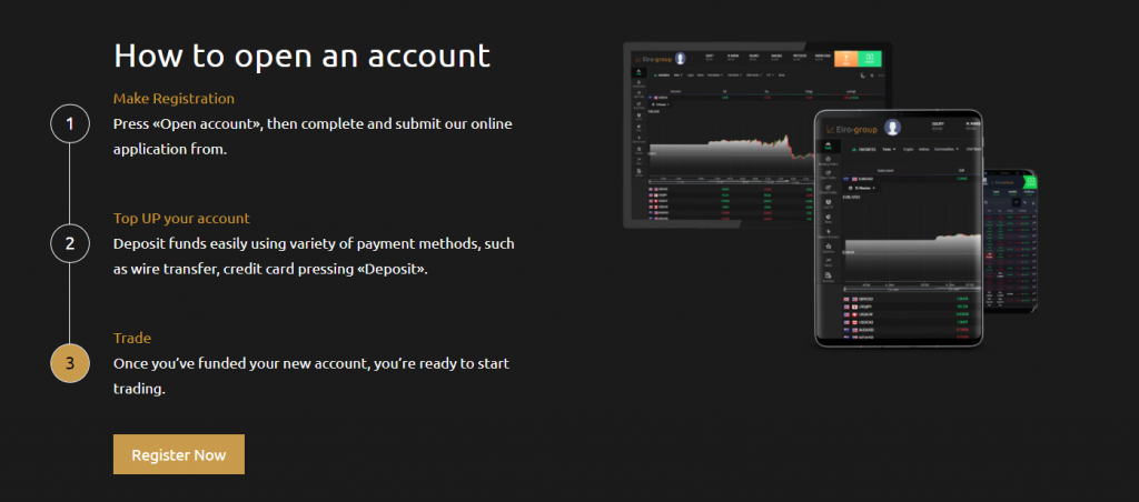 Eiro-group account opening process