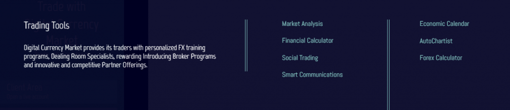 Digital Currency Market trading tools